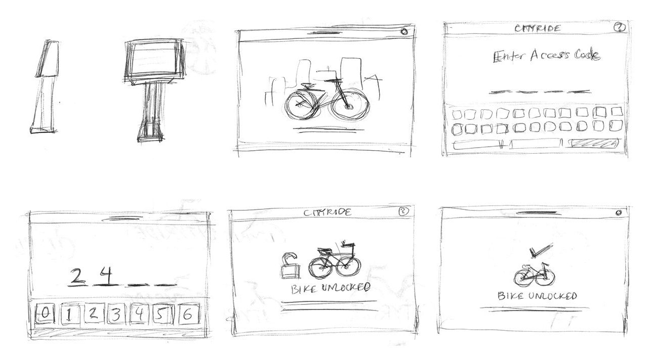 BikeNYC dashboard sketches