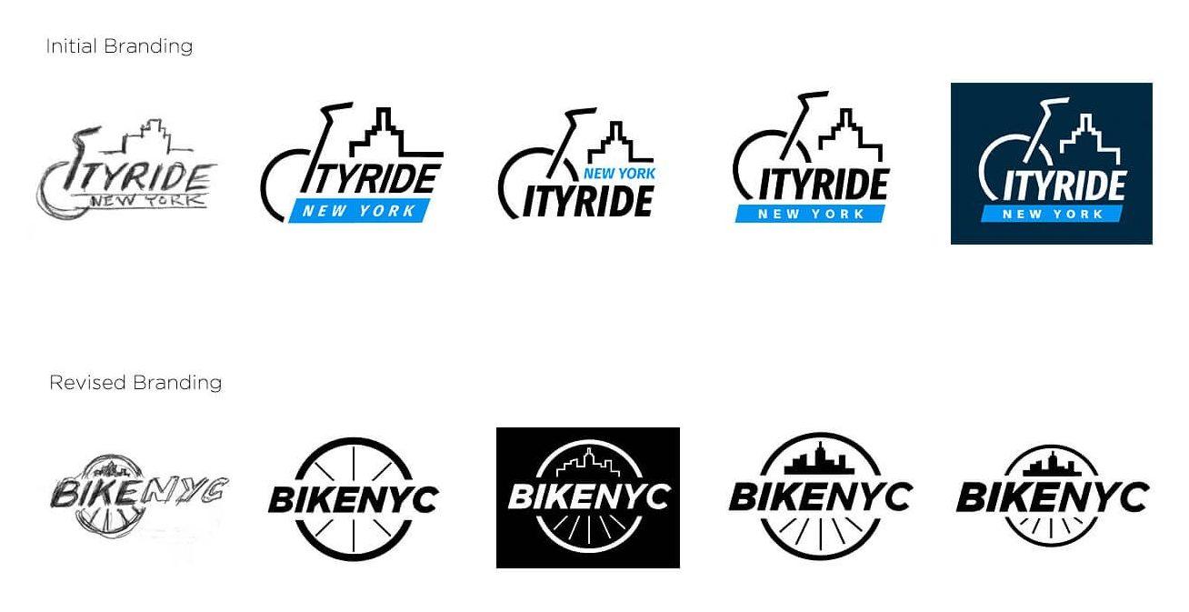 BikeNYC logo designs