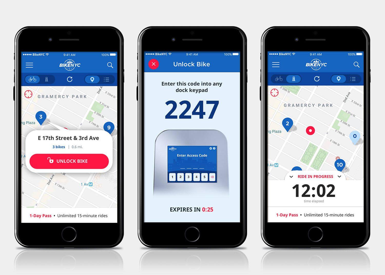 BikeNYC app mockups 2