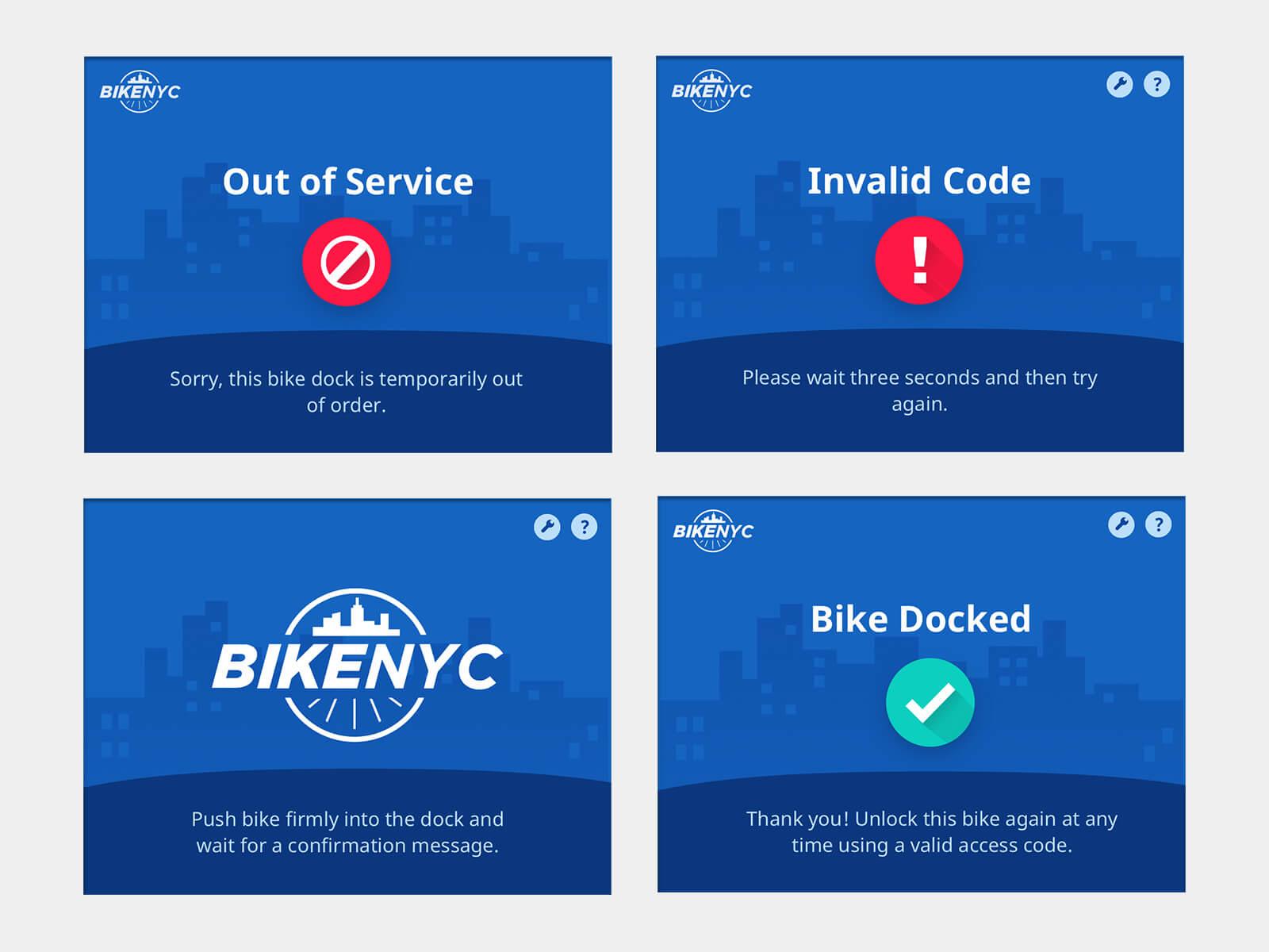 BikeNYC dashboard mockups 2