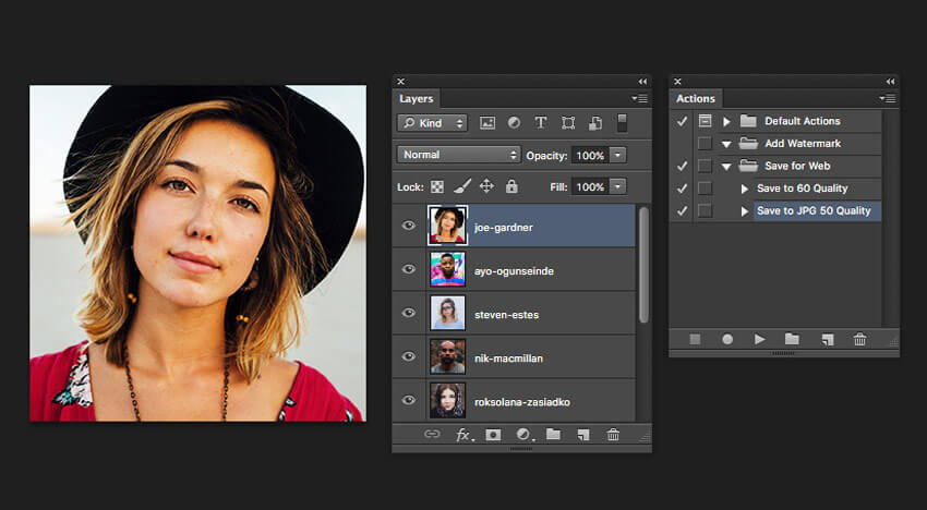 Batch Export Photohop tutorial image