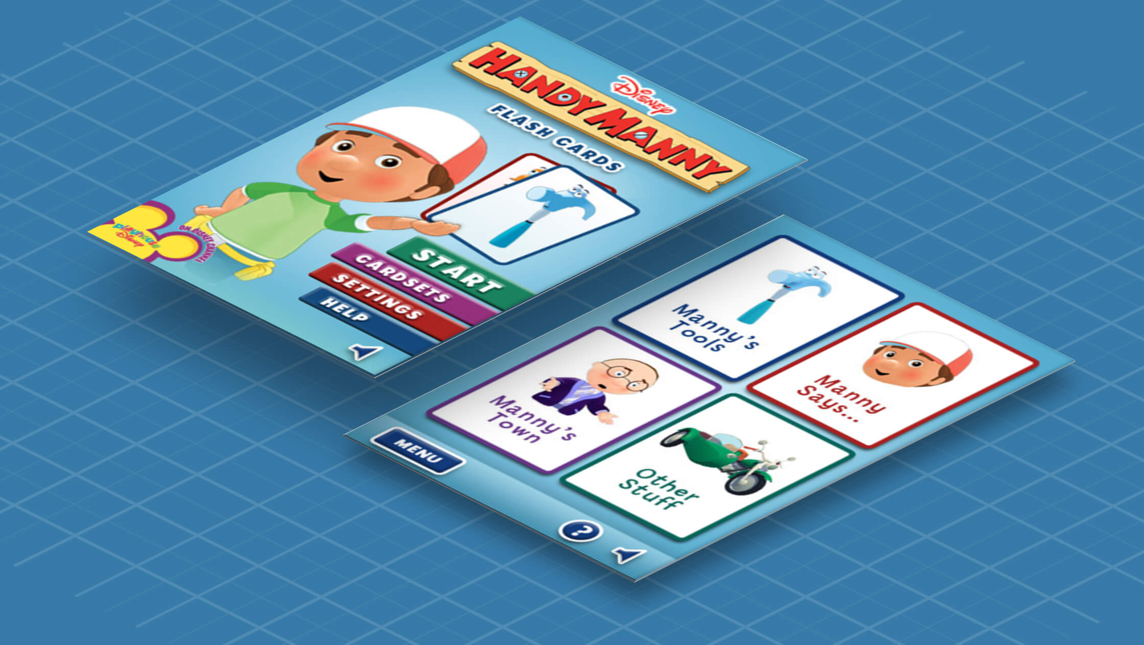 Disney Handy Manny Flash Cards Project