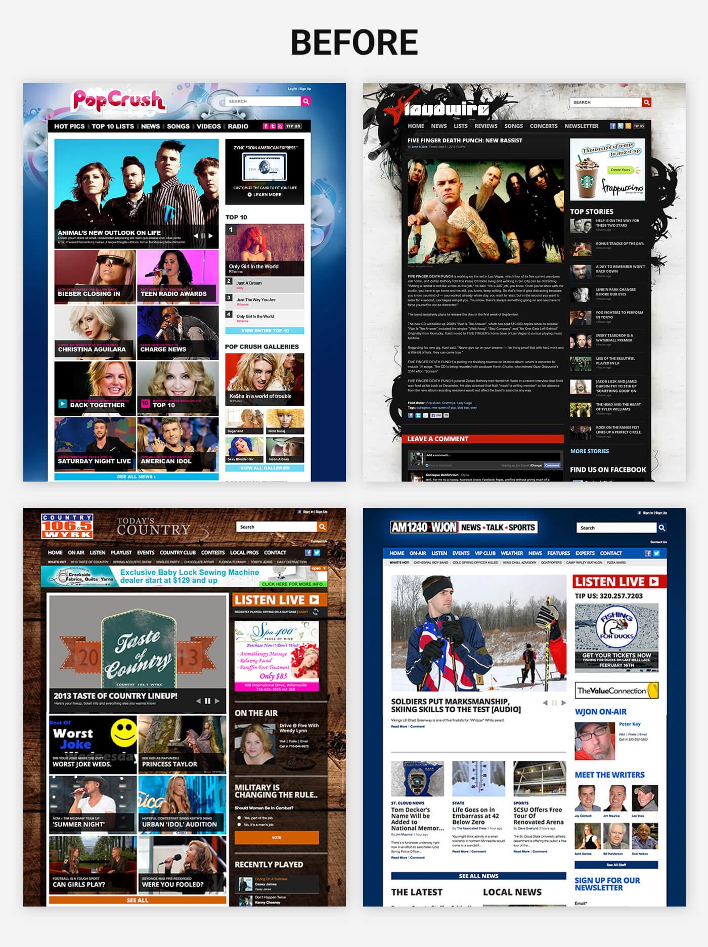 Townsquare Media - existing desktop sites