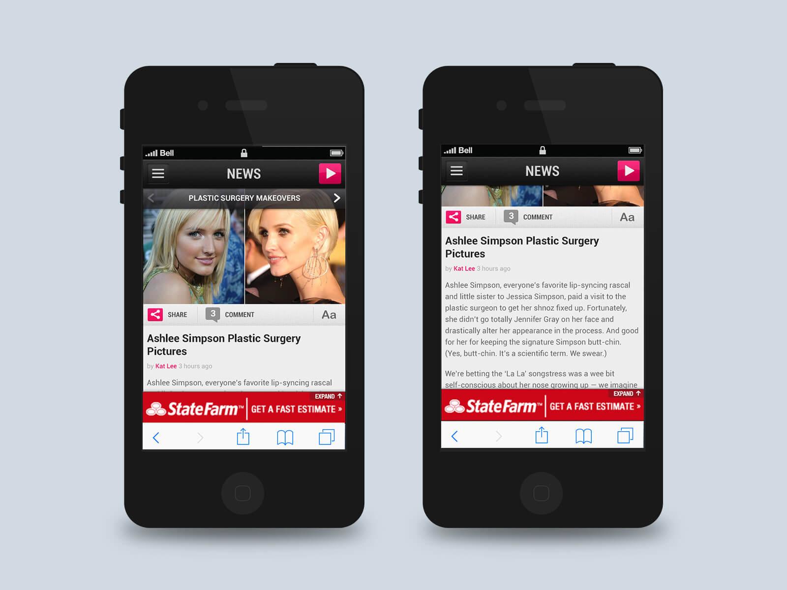 Townsquare Media - Popcrush mockups