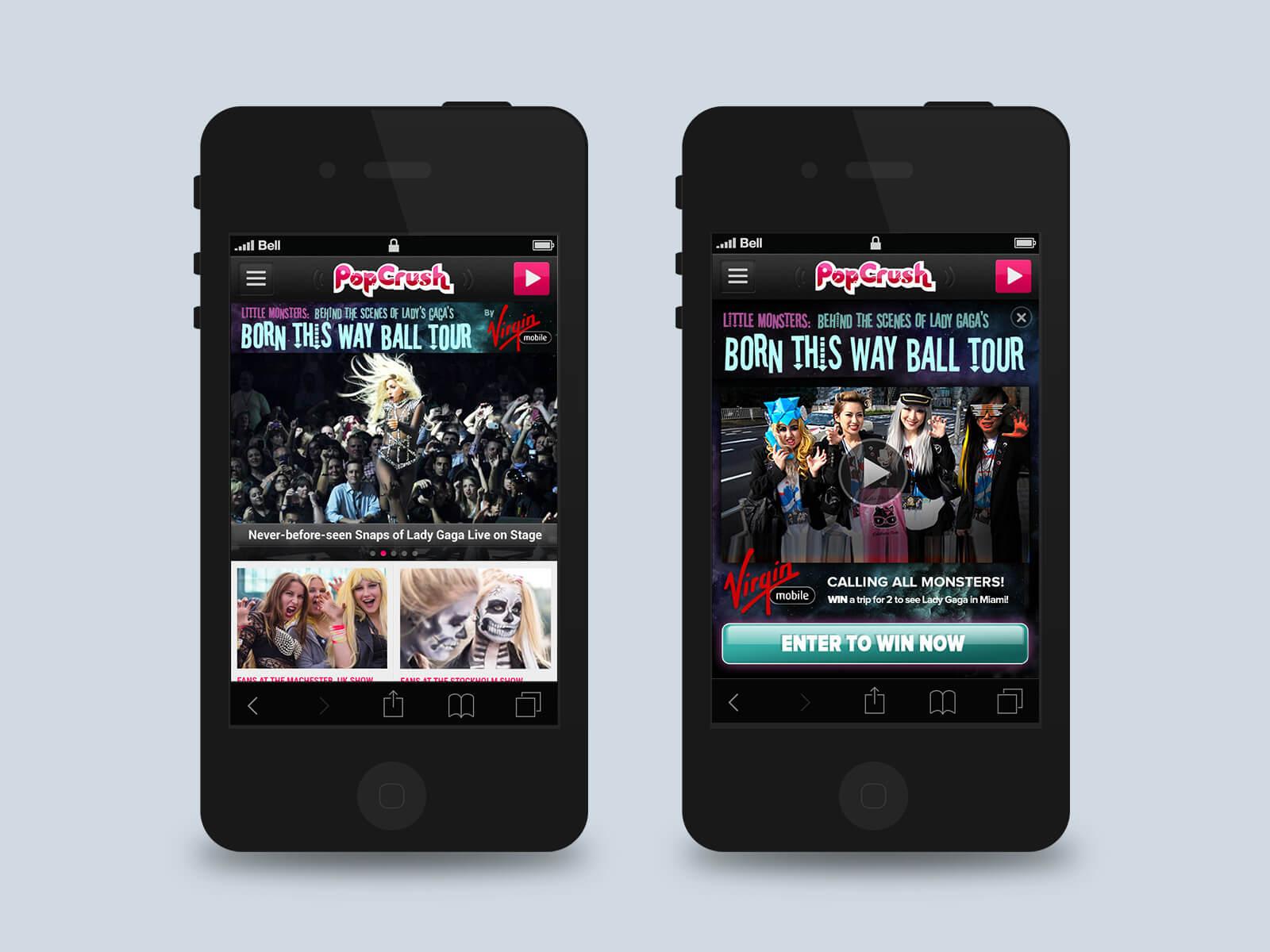 Townsquare Media - Popcrush mobile ads