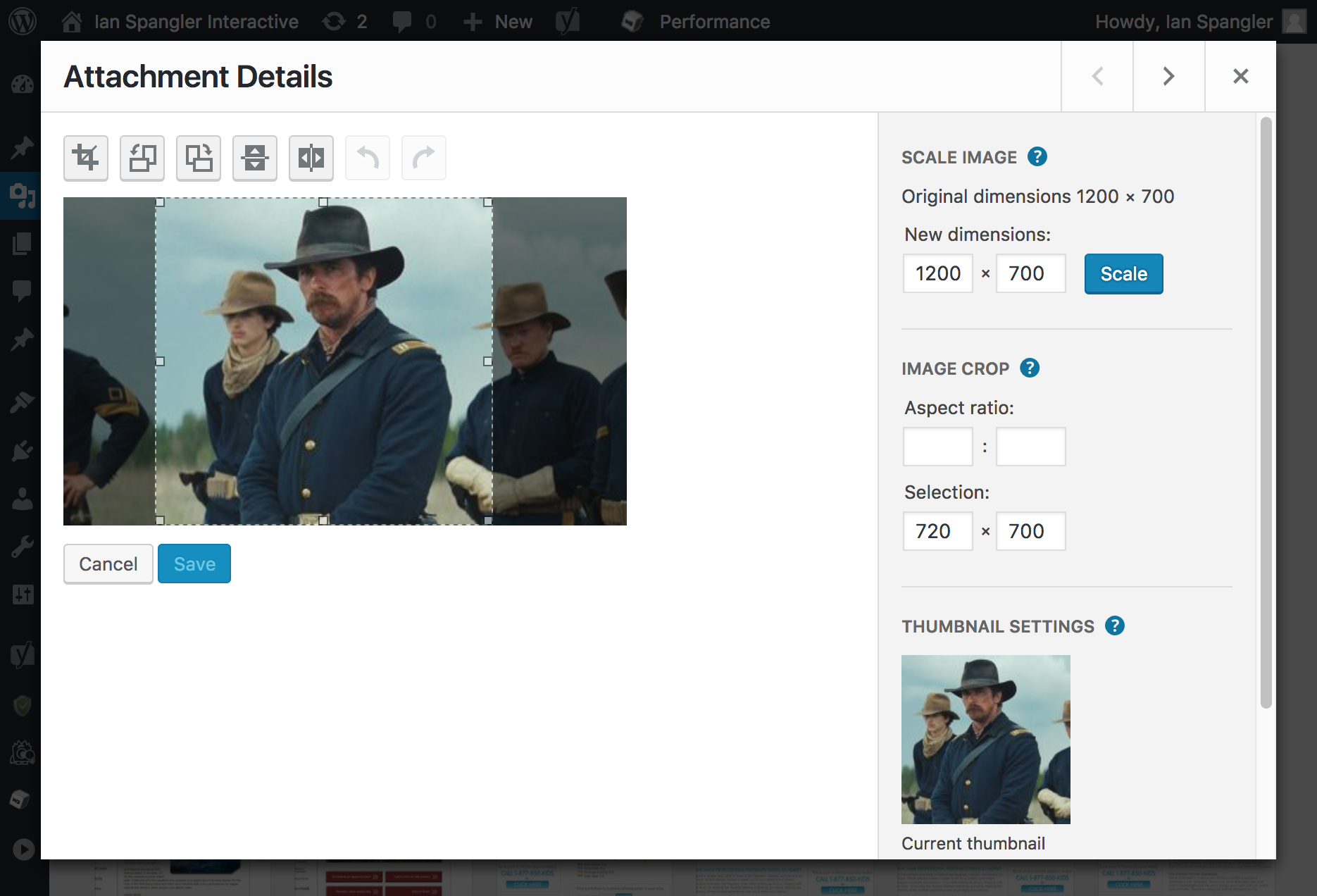 CM media image attachment in WordPress