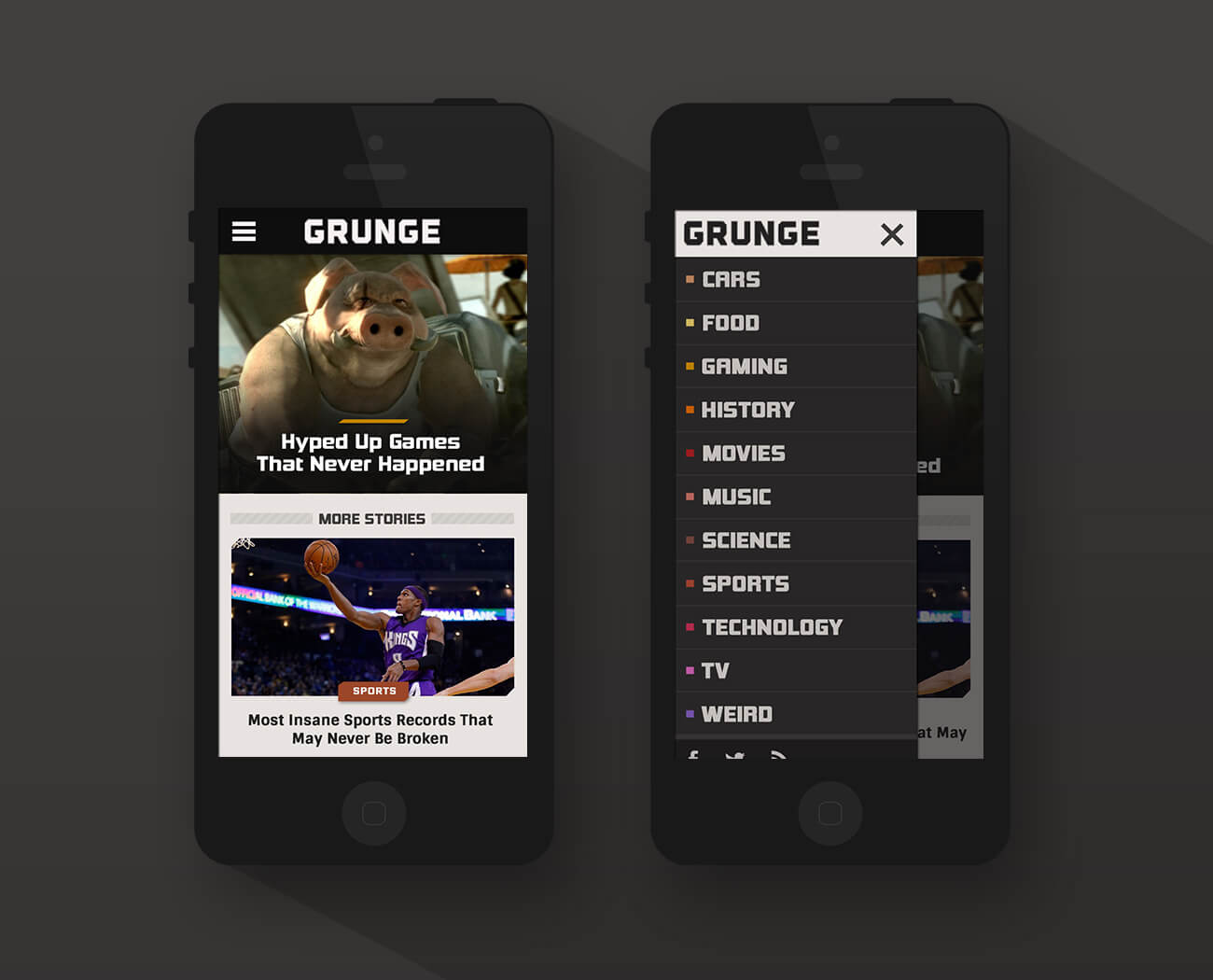 Grunge mobile - phase 1 design