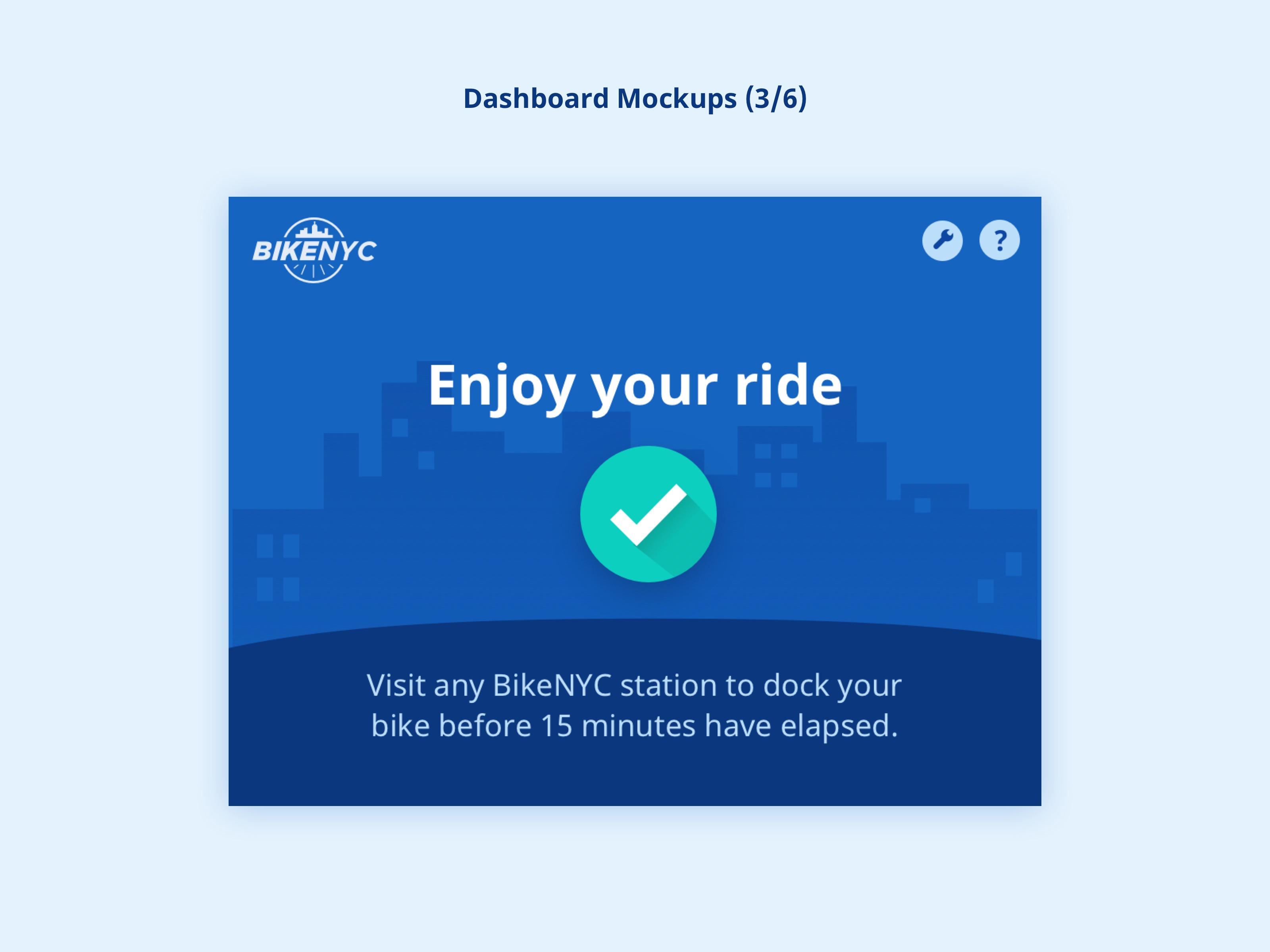 BikeNYC Dashboard - Success