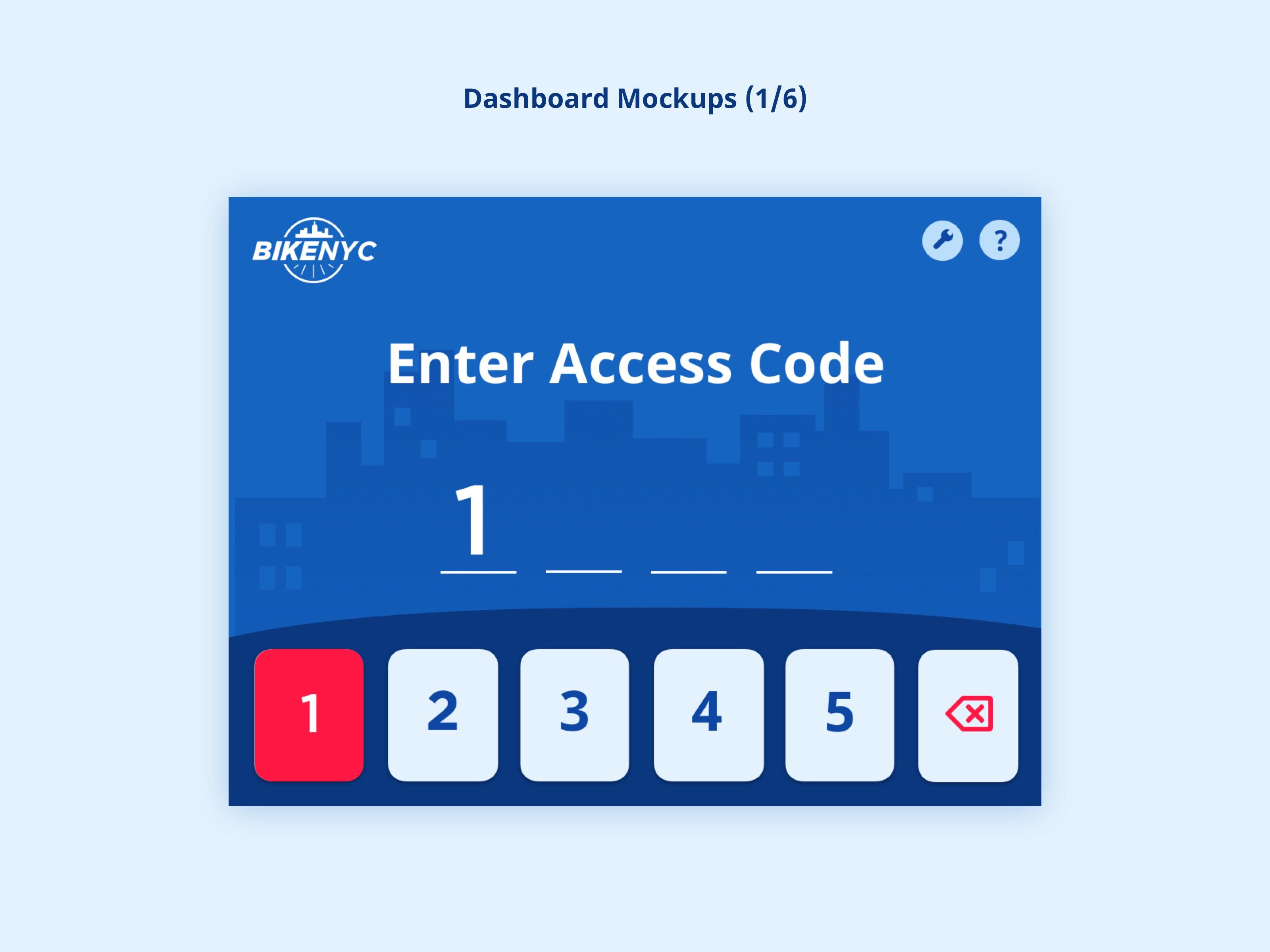 BikeNYC Dashboard - Enter Code
