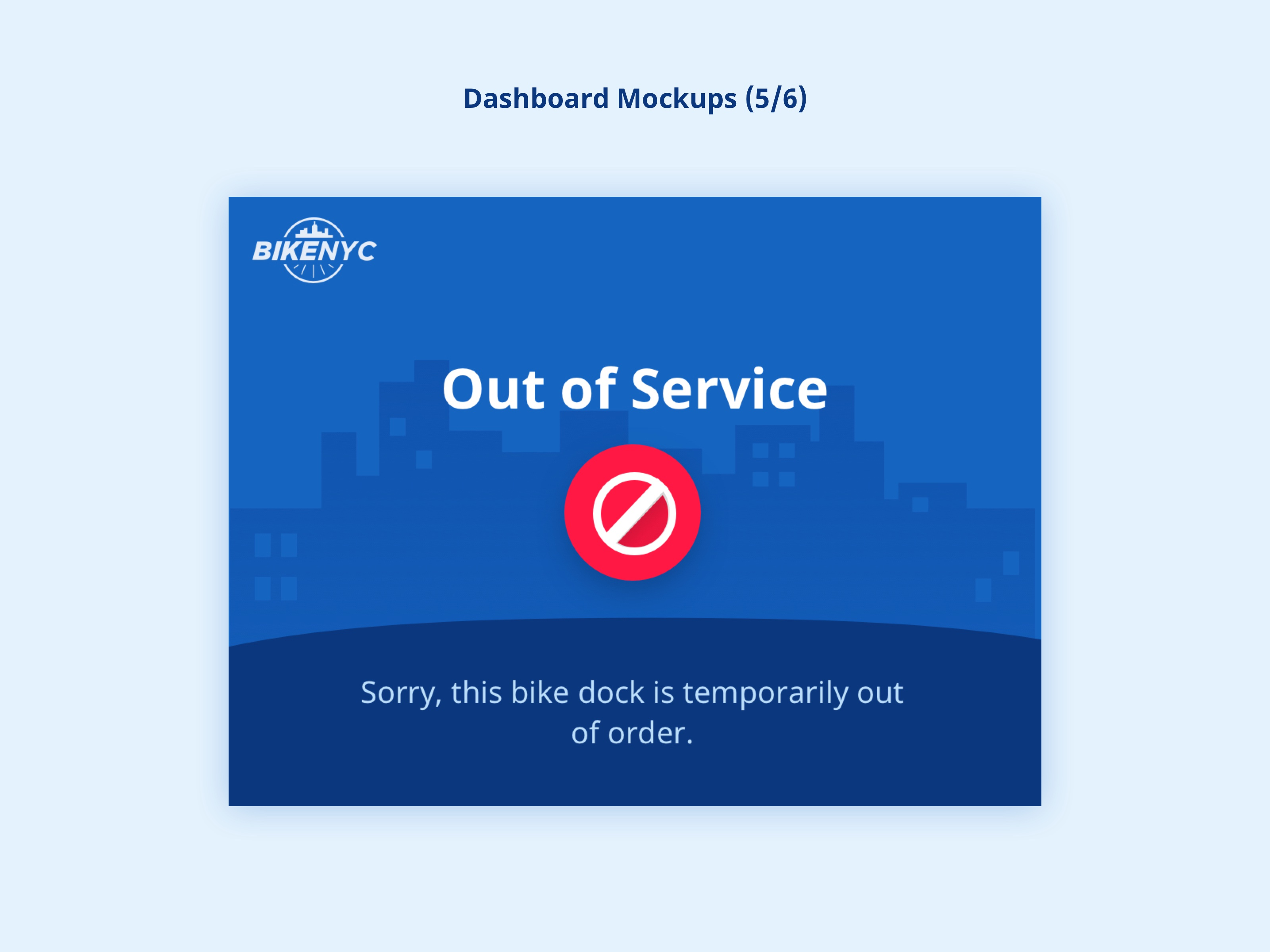 BikeNYC Dashboard - Out of Service
