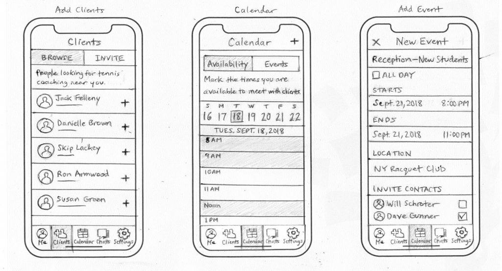Sketches - Clients/ Calendar