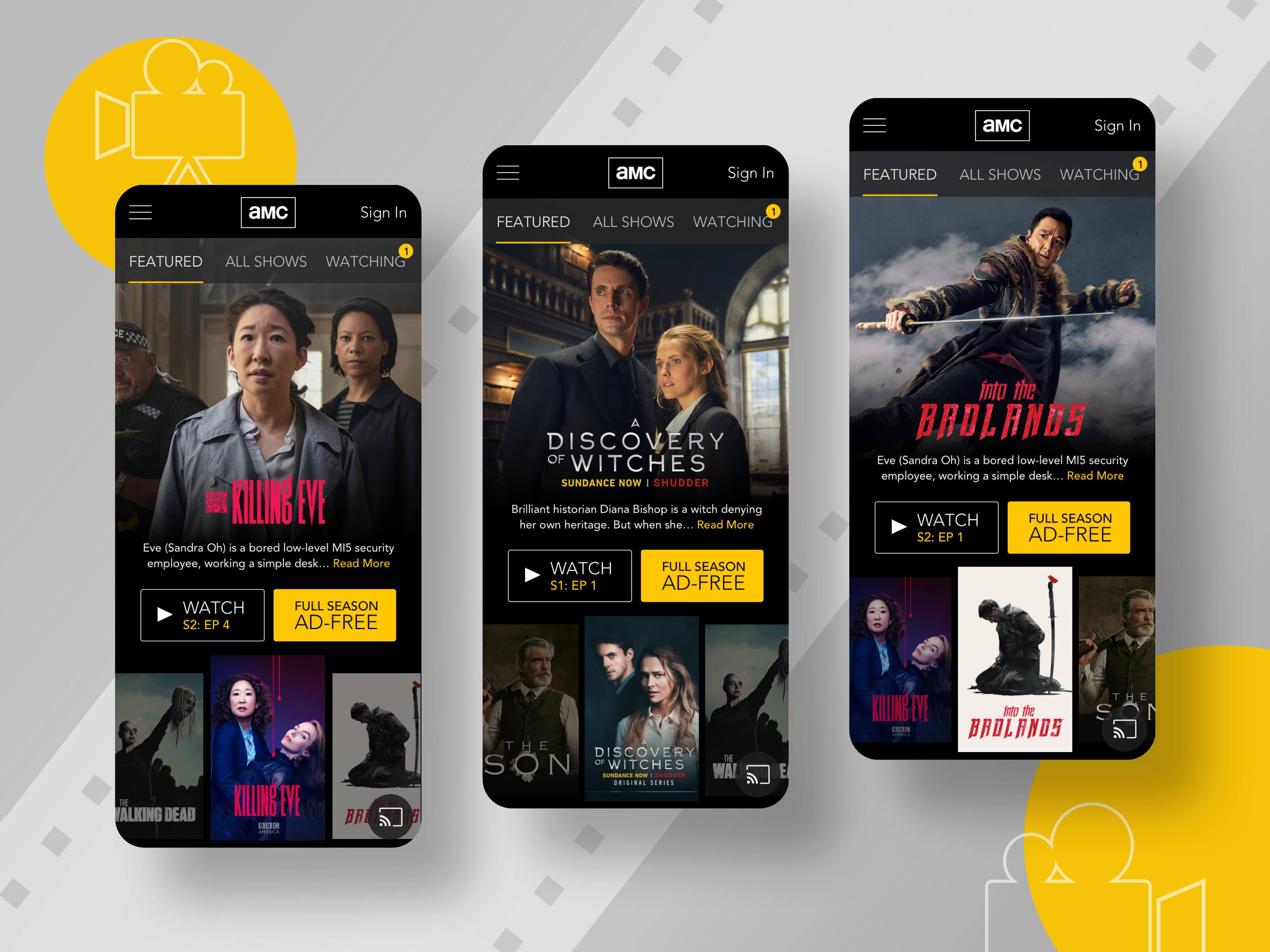 AMC Mobile - Final Mockups